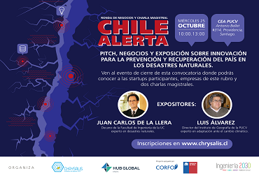 "Conferencia ""Pitch, Negocios y Charla: Chile Alerta"""